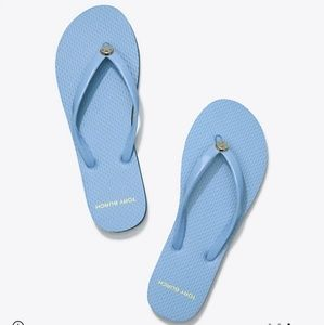 Brand New Tory Burch Solid Thin Flip Flops